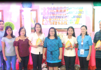 Congratulations !!! San Vicente Integrated School and Mindoro Primary School,  bagged first and second places in the Search for Brigada Eswela 2017 Best Implementing Schools