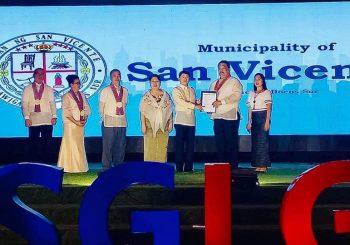 LGU- San Vicente Bags 4th SGLG Award